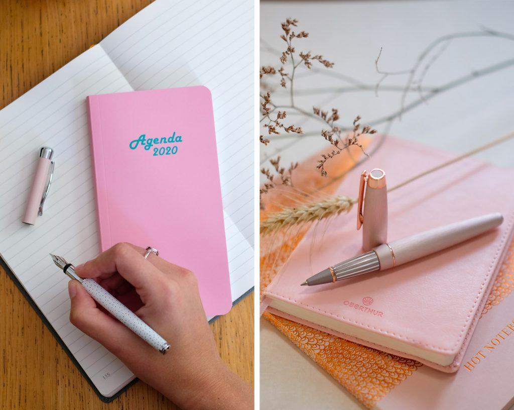 1-selection-rose-oberthur-papeterie-agenda-carnet-stylo-roller