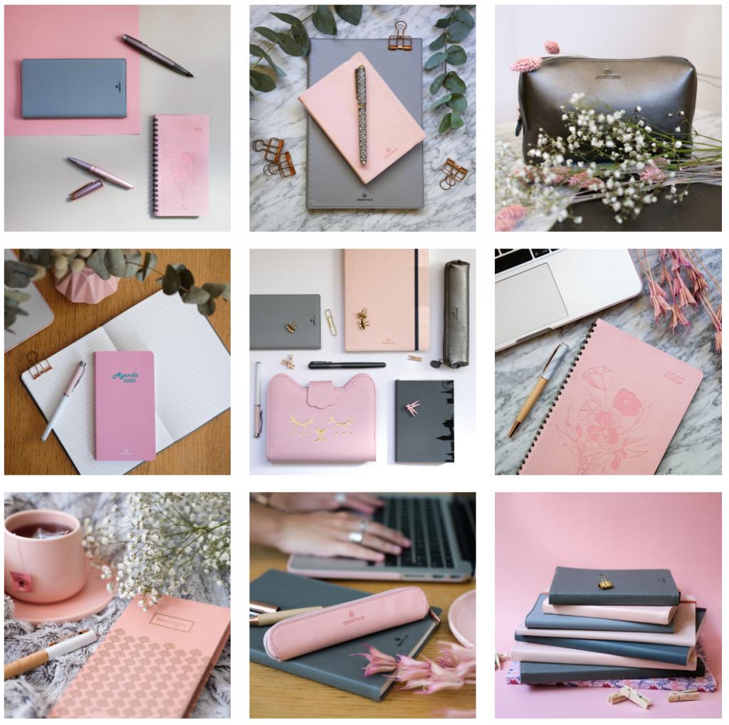 2-Oberthur-blog-maroquinerie-papeterie-ecriture-retrospective-couleurs-instagram-rose-gris
