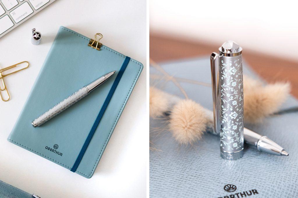 3-blog-oberthur-idees-cadeaux-fete-des-meres-bleu-ecriture-stylos-metal-chrome-plume-roller-bille copie