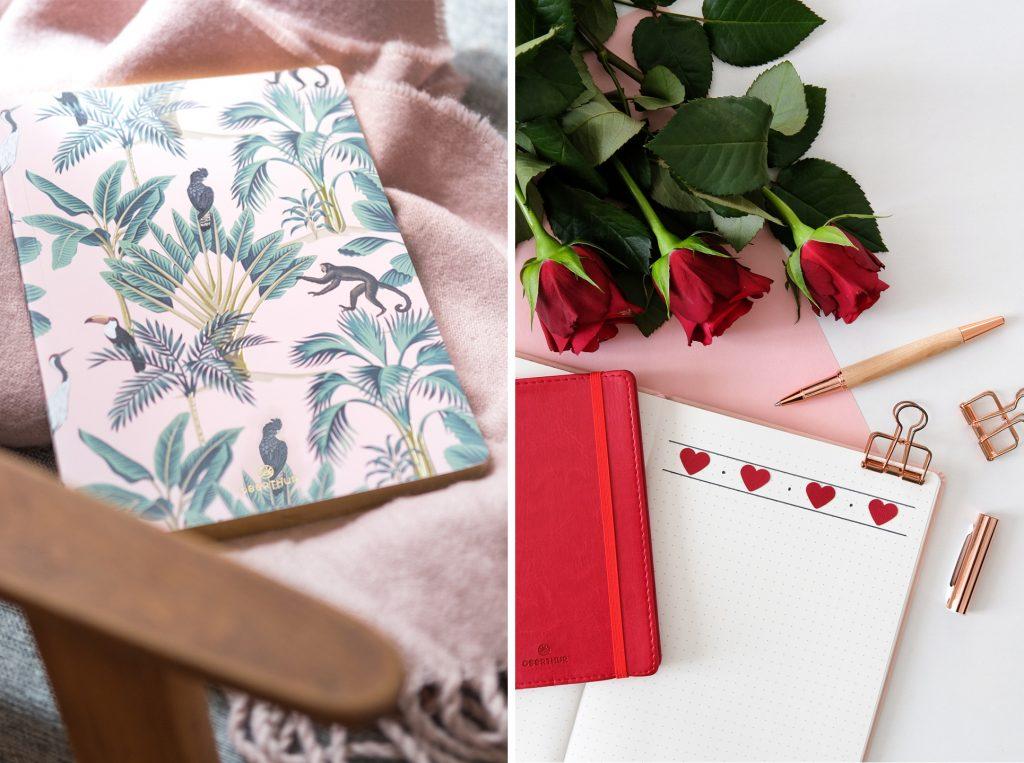 3-blog-oberthur-idees-cadeaux-saint-valentin-papeterie-carnet-bullet-journal-journaling-rose-rouge-notebook