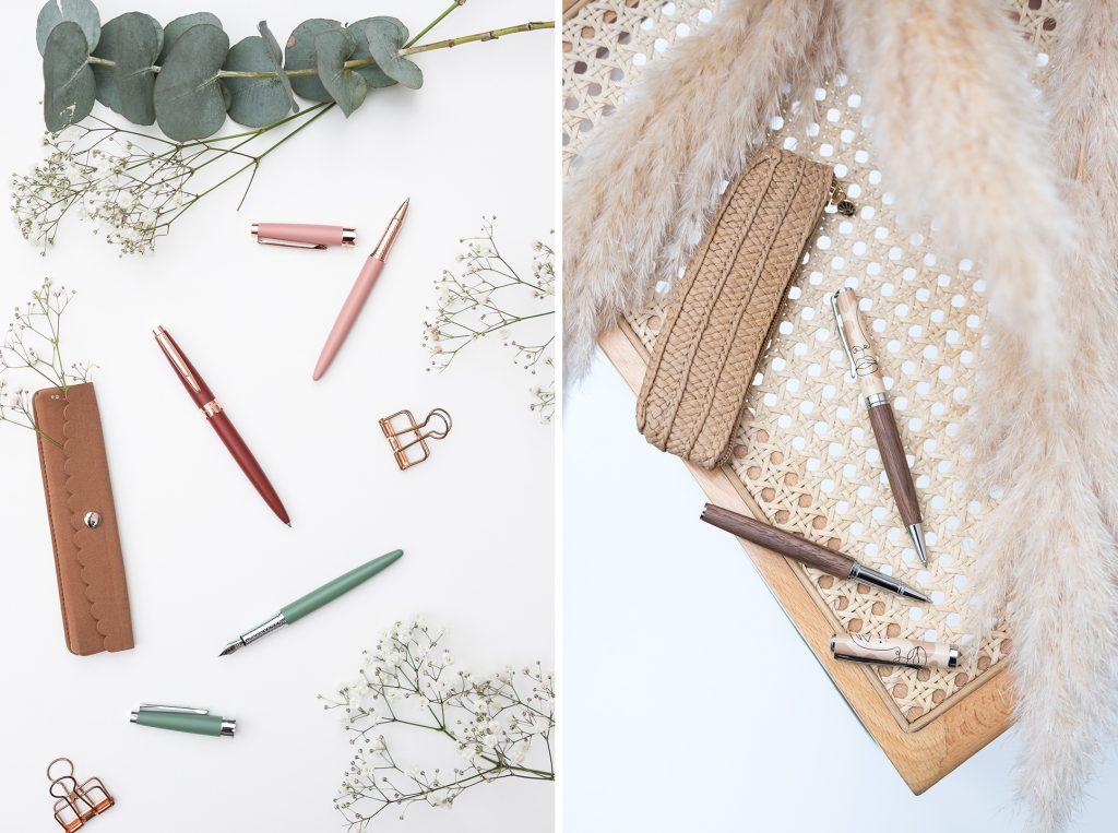 Une nouvelle collection de stylos en bois ou stylos métal
