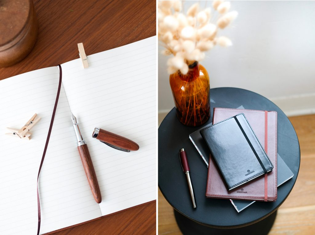 Assortir un stylo en bois avec un carnet de notes Oberthur : une jolie parure pour la Fête des Pères